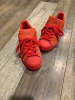 Halloween Adidas Superstar Red October Suede Size 5 Women/Men