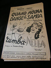 Partition Quand mouna Danse la samba Maison Emery Rumba Nella Music sheet