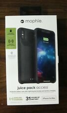 Mophie Juice Pack Access iPhone Xs Max Battery Charging Case - Black New In Box