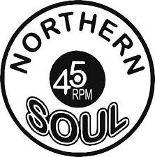 Northern Soul 45 Rpm Mod COCHE SCOOTER SOUL Pegatina Etiqueta de vinilo Laptop Motown