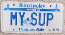 Kentucky 1995 TOYOTA CELICA SUPRA VANITY License Plate MY-SUP