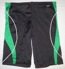 Mens Speedo Swimwear Swimsuit Jammer Compression Swim Short Sz: 36 Black Green