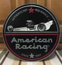 American Racing Rims Hot Rod Metal Wall Mobil Vintage Look Coupe Ford Chevy