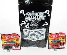 WORLD'S SMALLEST MINI HOT WHEELS DIECAST CAR LOT OF 2 JUST AS PICTURED LOOSE