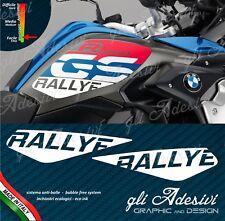 2 Adesivi BMW R 1200 GS LC RALLYE fianco serbatoio protezione bianco opaco