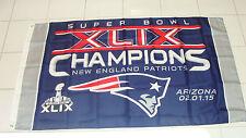 3x5 Feet Flag Wall Hanger NFL New England Patriots Super Bowl 49 XLIX Champions