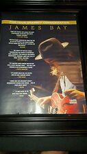James Bay Original Grammy Award Consideration Promo Poster Ad Framed!