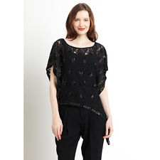 NWT US$198 AU$264 2b.RYCH Evening Wear Sheer Lace Sequins Top Sz S-M AU 8-10
