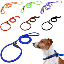 Nylon Dog Lead 2 in 1 Design Durable Rope Leash with Adjustable Sliding Collars