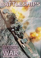 WEAPONS OF WAR - Battleships DVD + BOOK WORLD WAR TWO WWII Navy BRAND NEW R0