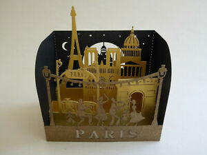 Paris Souvenir Laser Pop-Up Greeting Card - Landmarks - Eiffel Tower