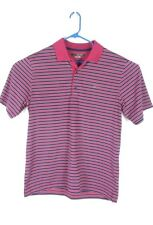 Greg Norman Large Mens Play Dry Red Striped Golf Polo