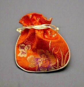Chinese Purse Women jewellery travel Pouch Case Ladies drawstring Bag silk