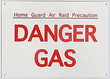 Home Guard Danger Gas enamelled steel wall sign  180mm x 130mm  (dp)