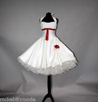 Brautkleid Hochzeitskleid kurzes 50er Petticoat Standesamt kleid creme