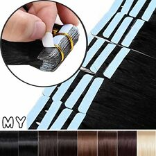 Tape In 20 40 60PCS Real Remy Human Hair Skin Weft Extensions Long Seamless BS91
