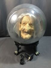 """14"""" Gemmy Halloween Spirit Ball WITCH Animated Talking Lighted w/ AC Adapter"""