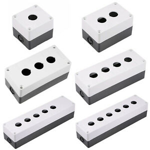 Push Button Switch Control Station Box 22mm 1 2 3 4 5 6 Hole Holes White/Black