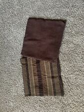 2 Throw Pillow Covers Black And Brown