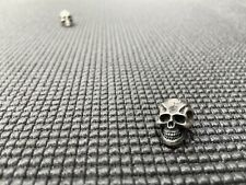 1 Steel Flame Sterling Silver Darkness Skull Bead