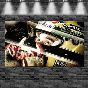 XXL Ayrton Senna 160cmx90cm auf Leinwand Keilrahmen Loft Sport Rennwagen Legend