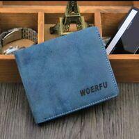 Fashion Bifold Men's PU Leather Wallet Credit ID Card Multi Pockets.