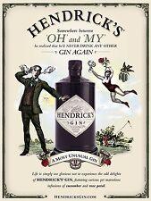 Hendricks GIN, Stile Retrò Vintage Metallo Segno, bar/pub, cucina, alcool
