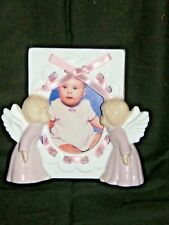 """Kissing Angels"" Baby Girl Photo Frame, by Roman"