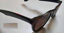 New 80's Unisex Vintage Brown Tortoise Shell Wayfarer Style Sunglasses