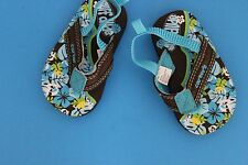 60d460b76667 Carter s~Aqua   Brown~Baby Toddler FLIP FLOP Sandals~Size 2~Surf