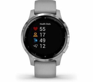 Garmin Vivoactive 4S Smartwatch 40mm, Silver/Powder Grey *Missing Charger*
