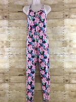 Abercrombie Kids Romper Girls Large 14 Floral One Piece Full Length Jumpsuit