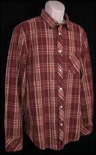 Canterbury of New Zealand Mens New Plaid Shirt XL Burgundy Hipster Rockabilly