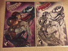 Amazing Spider-Man Renew Your Vows #1 Venom Mary Jane Venomized B&W  Variant