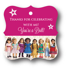 24 AMERICAN GIRL DOLL Birthday Party Favors Tags - BeForever Girls