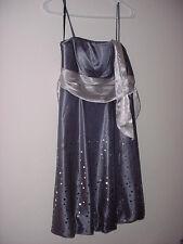 KiKi Pewter Mirrored Rain Drop Dress Sz Medium