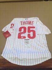 Jim Thome Signed Custom Philadelphia Phillies Jersey w/ JSA COA FUTURE HOF