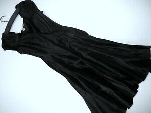 Diane von Furstenberg Pure Black Silk Evening Dress - Sized as 2 - UK 8