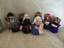 Hand Knitted Nativity Set, Novelty, Decoration