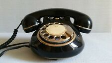 Vintage Black Ceramic Dial Telephone Gold Plating by Astral (England 80s)working