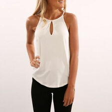 US Women Clothes Summer Sleeveless Tops Casual Solid Sling Ladies T-shirt Blouse