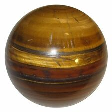 Tiger Eye Sphere Ball Art Reiki Healing Table Décor Natural Crystal 50-55MM