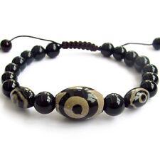 Tibet Agate Gem Heaven Eye Beads Buddhist Prayer Beads Mala Bracelet