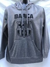 Barcelona Football Club FCB Gray Hoodie Officially Licensed Men's Sz M New