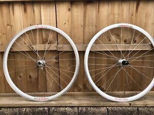 Pete Mathews Handbuilt 700c Bicycle Wheelset Paris Roubaix Pianni Rims 105 Hubs