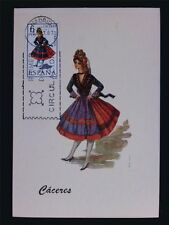 SPAIN MK 1967 TRAJES CACERES TRACHT COSTUME MAXIMUMKARTE MAXIMUM CARD MC c6084