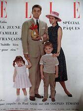 ELLE N° 0588 PAQUES RHODESIE HELENE DE FRANCE  LA JEUNE FAMILLE FRANCAISE1957