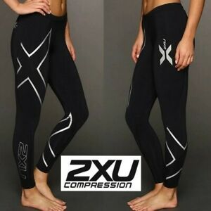 2XU compression tight core muscle support recovery 50 UPF sun protection women S