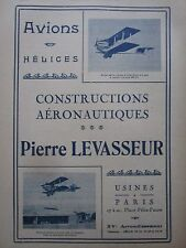 CHARLES CHARLESTOP AD 1935 PUB LEVASSEUR AVIONS HELICES PROPELLER AIRCRAFT