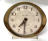 "Vintage Big Ben Alarm Clock Wind Up 5"" Tall 53647 Westclock USA Made Working"